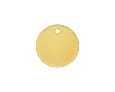 Desert Gold Recycled Glass Concave Coin 18mm