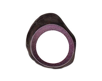 Tagua Nut Grape Open Slice (side drilled) 33-45x24-36mm