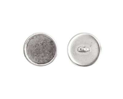 Nunn Design Antique Silver (plated) Small Circle Frame Button 13mm