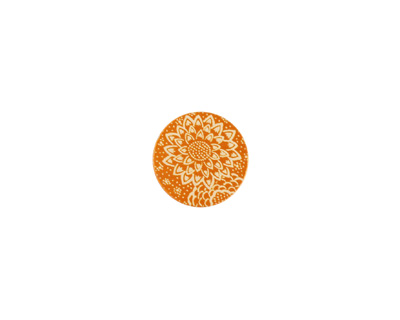 Lillypilly Orange Dahlia Anodized Aluminum Disc 11mm, 24 gauge