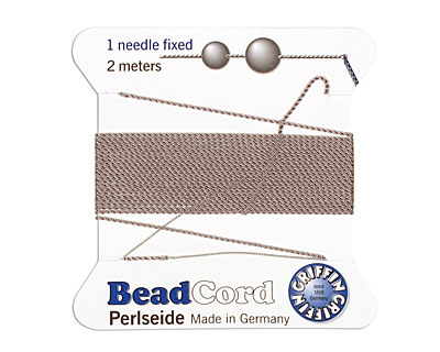 Grey Griffin Nylon Beading Cord Size 4, 2 meters