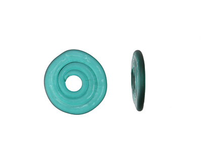 A Beaded Gift Dark Teal Glass Mini Disc 12-14mm