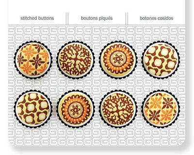 Buttercup Stitched Buttons 17mm