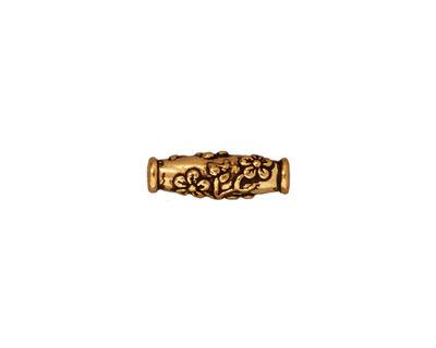 TierraCast Antique Gold (plated) Wild Rose Barrel 15x5mm