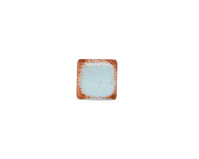 Greek Pueblo Ceramic Arctic Blue Cube 9-10mm