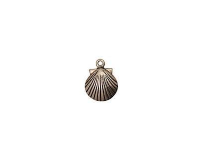 Stampt Antique Pewter (plated) Tiny Seashell Charm 7.5x10mm