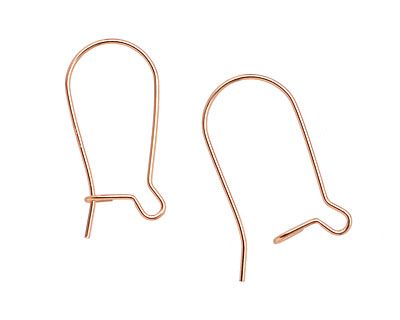 Rose Gold-Filled Kidney Earwire 23x11mm