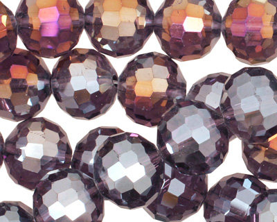Sugar Plum AB Crystal Micro-Faceted Round 12mm