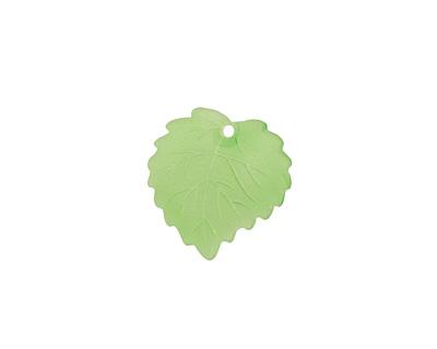 Matte Peridot Lucite Ivy Leaf 16mm