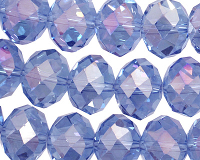 Light Sapphire AB Crystal Faceted Rondelle 14mm