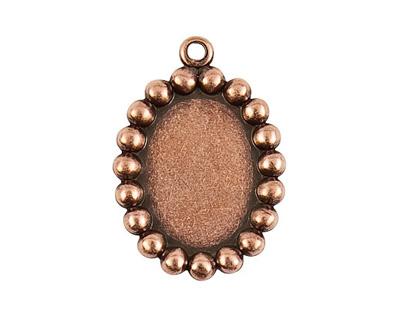Nunn Design Antique Copper (plated) Vetri Beaded Oval Frame 20x28mm