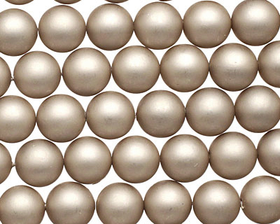 Champagne (matte) Shell Pearl Round 8mm