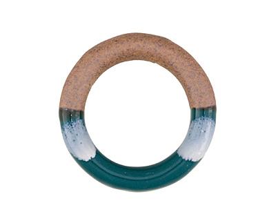 Forest Green Half-Glazed Porcelain Ring Focal 47-50mm