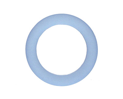 Light Sapphire Recycled Glass Ring 27mm