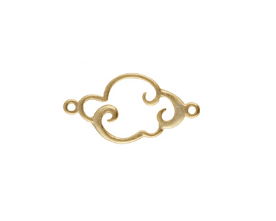 Amoracast 14K Gold (plated) Sterling Silver Cloud Connector 18x9mm