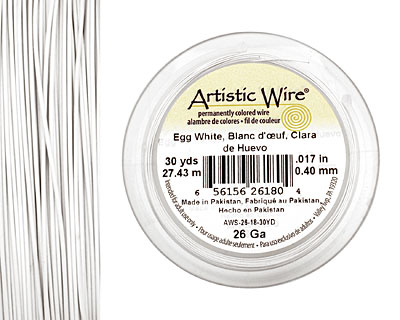 Artistic Wire Egg White 26 gauge, 30 yards