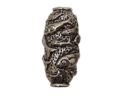 Green Girl Pewter Fish Tube 30x15mm