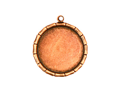 Stampt Antique Copper (plated) Bamboo Round Setting 18mm