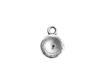 Nunn Design Antique Silver (plated) Organic Circle Bezel Pendant 10x15mmm
