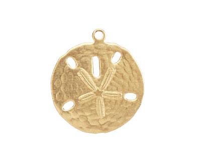 Brass Sand Dollar Charm 22x24mm