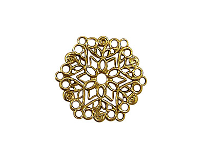 Stampt Antique Gold (plated) Poinsettia Filigree 22mm