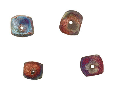XAZ Raku Stan's Rust Squaredelle 3-4x8-10mm