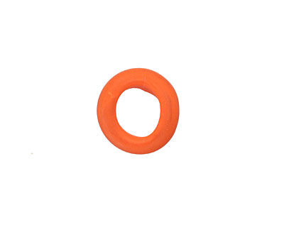 African Recycled Glass Matte Carrot Mini Ring 10-14mm