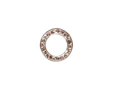 TierraCast Rhodium (plated) Medium Hammertone Ring 13mm