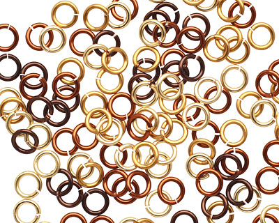 Treasure Chest Mix Enameled Copper Round Jump Ring 4.5mm, 20 gauge