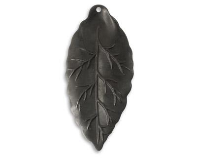 Vintaj Arte Metal Bay Leaf Pendant 21x45mm