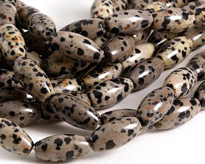 Dalmatian Jasper Rice 20x10mm