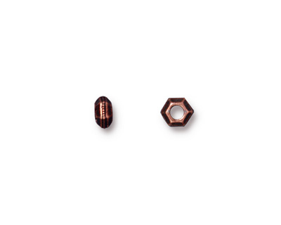 TierraCast Antique Copper (plated) Large Hole Faceted Heishi 5mm