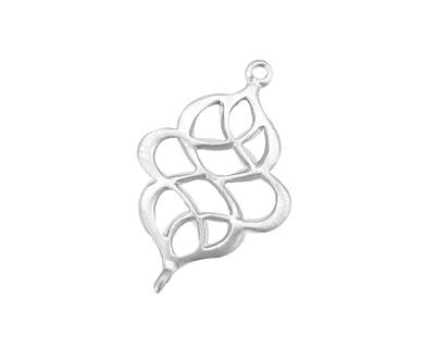 Ezel Findings Rhodium (plated) Elegant Twist Link 17x27mm