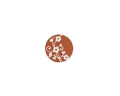 Lillypilly Bronze Floral Vine Anodized Aluminum Disc 11mm, 24 gauge