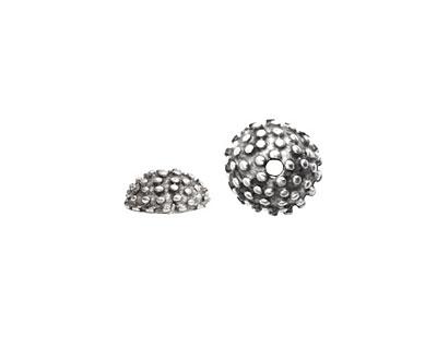 Nunn Design Antique Silver (plated) Urchin Bead Cap 5x12mm