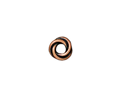 TierraCast Antique Copper (plated) Twisted Spacer 2x8mm