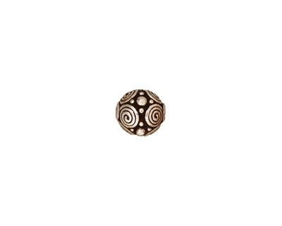 TierraCast Antique Silver (plated) Spirals Round 8mm