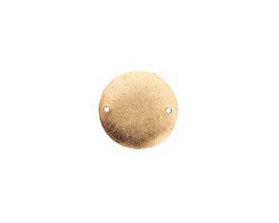 Nunn Design Antique Gold (plated) Flat Small Circle Tag Link 20mm