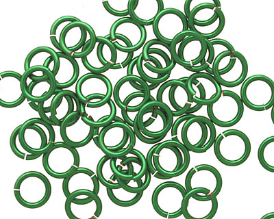 Green Enameled Copper Round Jump Ring 6.5mm, 18 gauge