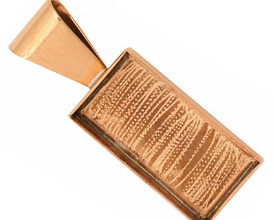 Copper Rectangle Bezel 14x28mm
