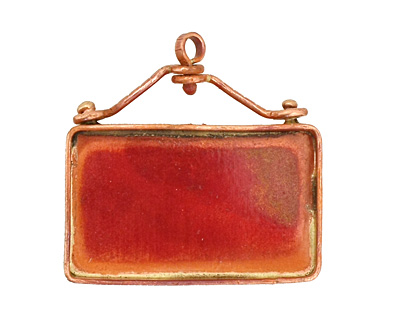 Patricia Healey Copper Rectangle Bezel 43x41mm