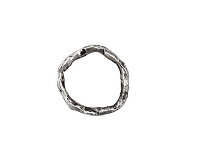 Rustic Charms Sterling Silver Small Rustic Round Link 16mm