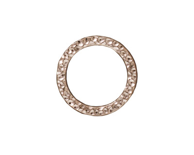 TierraCast Rhodium (plated) Large Hammertone Ring 19mm