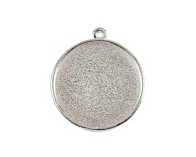 Nunn Design Sterling Silver (plated) Grande Circle Bezel Pendant 38x34mm