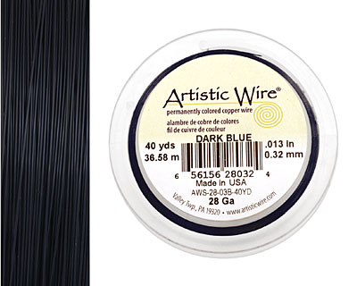 Artistic Wire Dark Blue 28 gauge, 40 yards