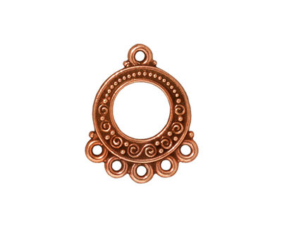TierraCast Antique Copper (plated) Spiral & Beads Chandelier 18x22mm