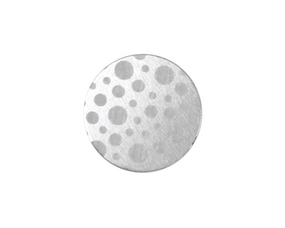Lillypilly Silver Scattered Dots Anodized Aluminum Disc 19mm, 22 gauge
