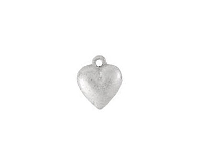 Nunn Design Antique Silver (plated) Large Heart Charm 12x15mm