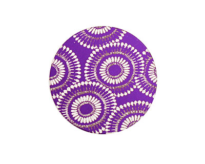 Lillypilly Purple Dandelion Anodized Aluminum Disc 25mm, 24 gauge