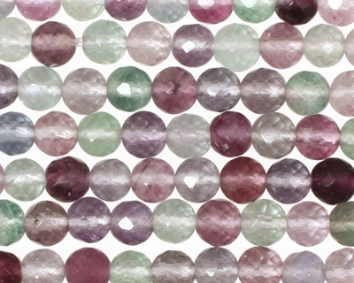 Rainbow Fluorite Faceted Round 6mm
